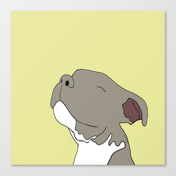 Sunny The Pitbull Puppy Canvas Print