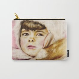 Pastel Drawing of Janie Carry-All Pouch