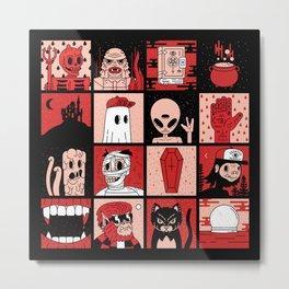 DEAD AF Metal Print