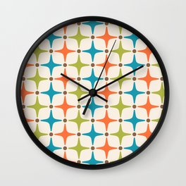 Mid Century Modern Star Pattern 821 Wall Clock