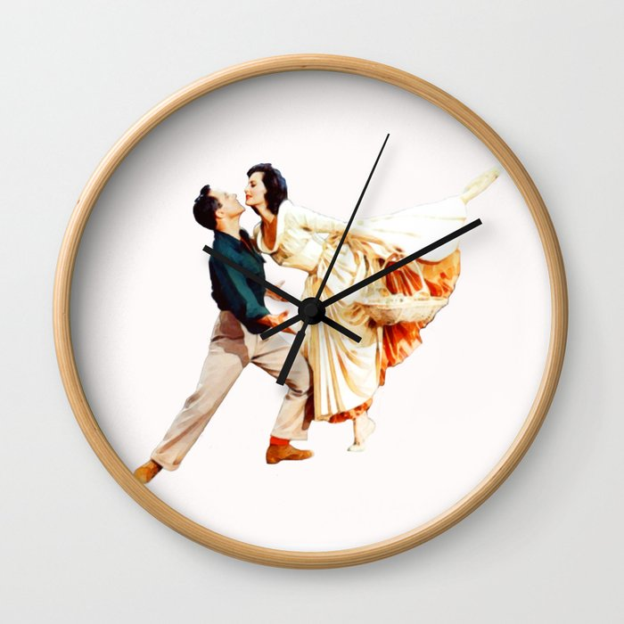 Gene Kelly and Cyd Charisse - Brigadoon Wall Clock