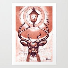 Suburban Deer 1 Art Print