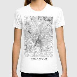 Indianapolis White Map T-shirt