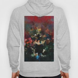 Emotional Abstract Artwork with Dark Colors Hoody