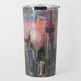 Toronto At Night Travel Mug