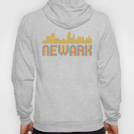 Vintage Style Newark New Jersey Skyline Hoody