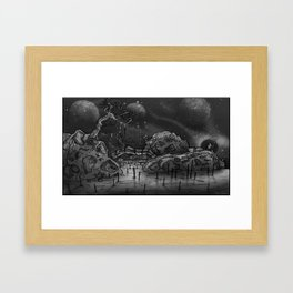 This land need healing  Framed Art Print