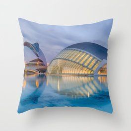 C A L A T R A V A | architect | City of Arts and Sciences III Throw Pillow