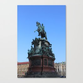 Monument to Nicholas the first. Canvas Print