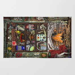 Creepy Cabinet of Curiosities Rug