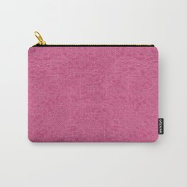 Pink rough leather texture abstract Carry-All Pouch