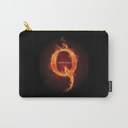 WWG1WGA QANON Letter Q Fire 2 Carry-All Pouch