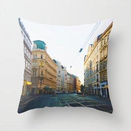 Vienna Street Throw Pillow