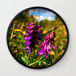 The summer flower. Wall Clock