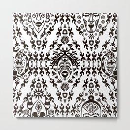 Ethnic Tribal African pattern Metal Print