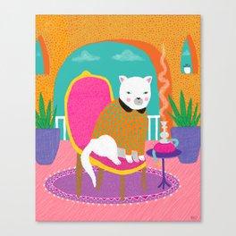 Shisha Cat - whistleburg Canvas Print