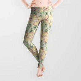 Burlap Pineapples Leggings