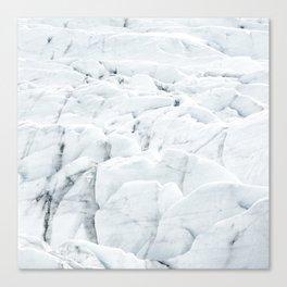 White winter glacier icelandic landscape photography Canvas Print
