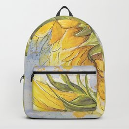Helianthus annuus: Sunflower Abstraction Backpack