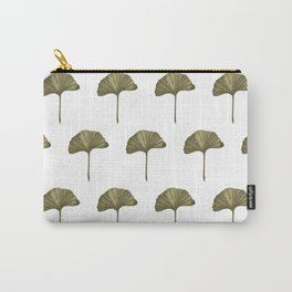 Green Ginko Leaf - Simple Minimalist Nature Carry-All Pouch