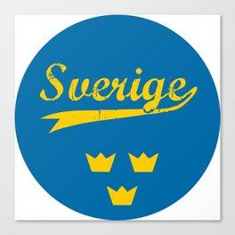 Sweden, Sverige, circle Canvas Print