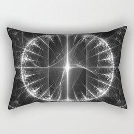 White Circle Rectangular Pillow