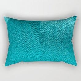blue string Rectangular Pillow