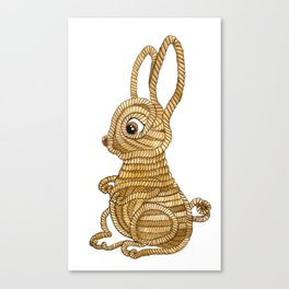 Rope Bunny Canvas Print