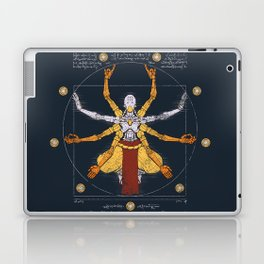 Vitruvian Omnic - color version Laptop & iPad Skin