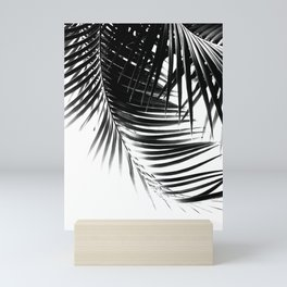 Palm Leaves Black & White Vibes #1 #tropical #decor #art #society6 Mini Art Print