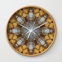 Golden stone, blue sky and arching branches kaleidoscope by rvjdesigns