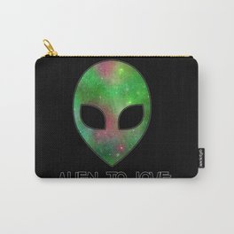 Alien to Love - GREEN Carry-All Pouch