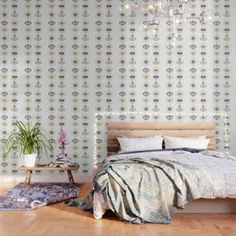 Evil Eye Collection on White Wallpaper