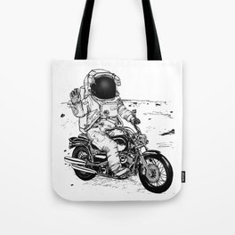 Moon Biker Tote Bag