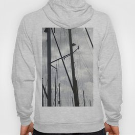 Yacht masts on cloudy sky Hoody