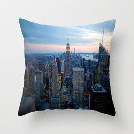 New York City Dusk Throw Pillow