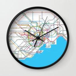 Tokyo Subway map Wall Clock