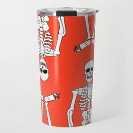 Skeleton pattern Travel Mug