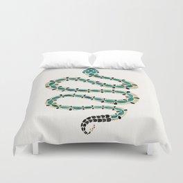Emerald & Gold Serpent Duvet Cover