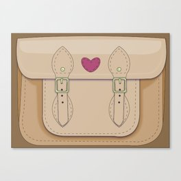 Girly Satchel Canvas Print