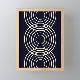 Life Balance Black Framed Mini Art Print