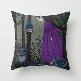 There is a Place in the Woods... Throw Pillow