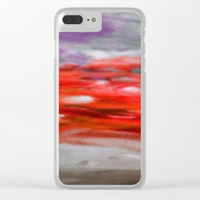 Serenity Abstract Landscape 3 Clear iPhone Case