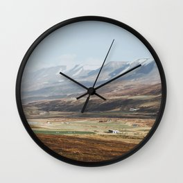 Icelandic Farm Country Wall Clock