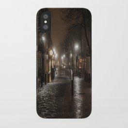Foggy night in Salem iPhone Case