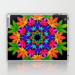 Cannabis Indica Leaf Mandala Laptop & iPad Skin