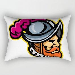 Spanish Conquistador Head Mascot Rectangular Pillow