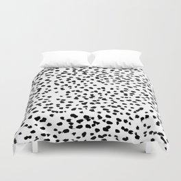 Nadia - Black and White, Animal Print, Dalmatian Spot, Spots, Dots, BW Duvet Cover