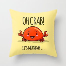 Crabby Day! Throw Pillow