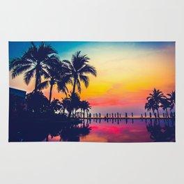 Miami sunset Rug
